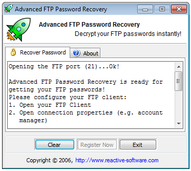 Advanced FTP Password Recovery