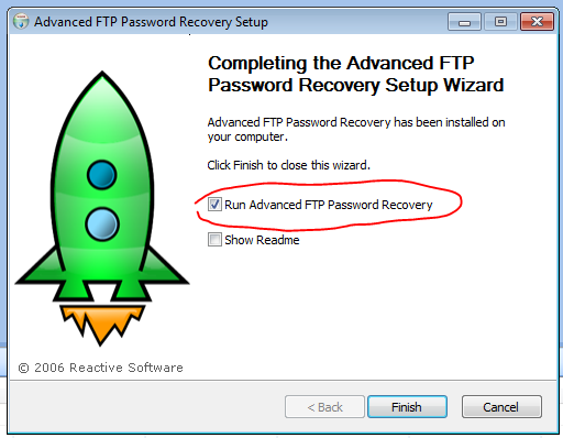 Advanced FTP Password Recovery installation