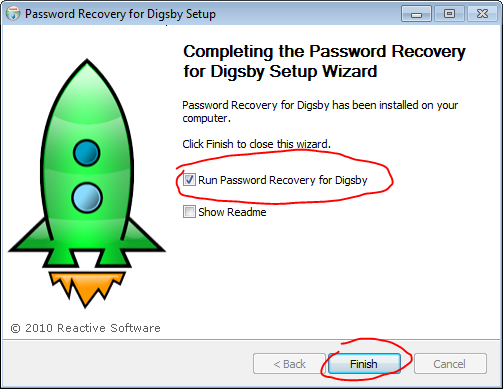 Digsby password restorer