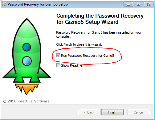 Gizmo password finder