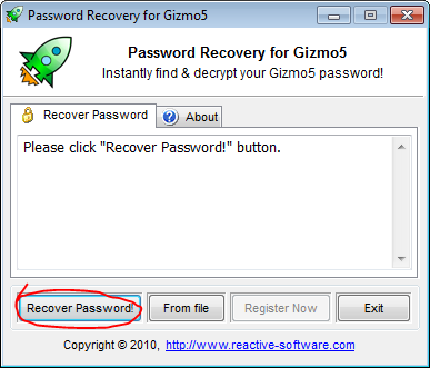 Gizmo5 password decrypter