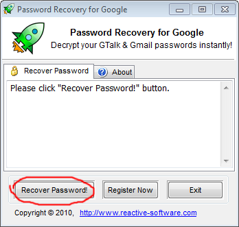 Retrieve Google Desktop password