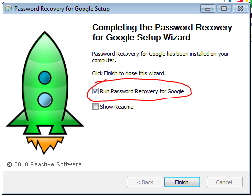 Gmail password recovery installation